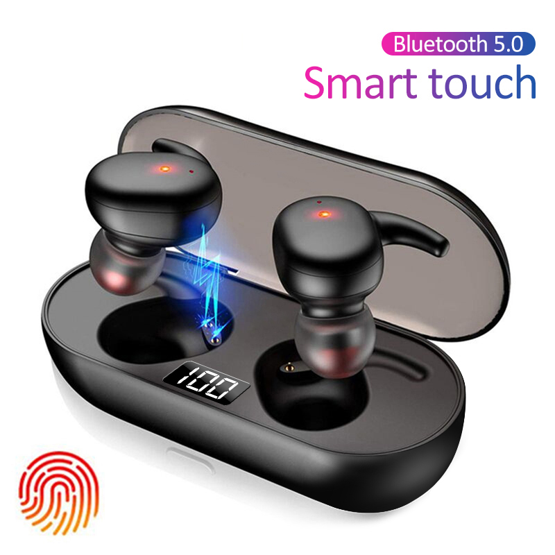 Q2 TWS Bluetooth earphone 5.0 Wireless Headset Life Waterproof Deep Bass Earbuds True Wireless Stereo Headphone Sport Earphones
