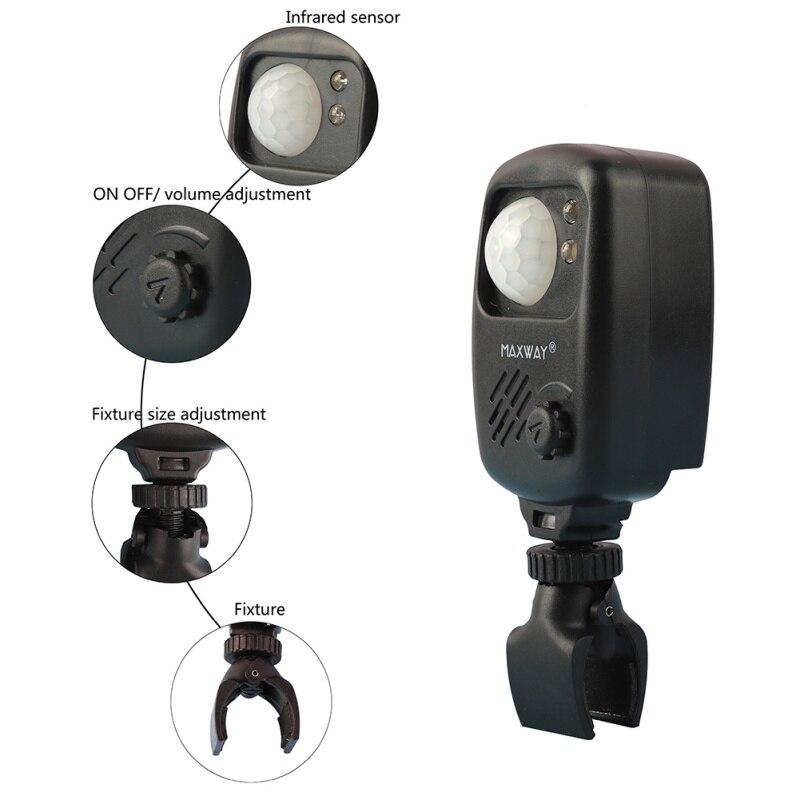 2Pcs Fishing Infrared Sensor Alarm Sound Alarm Wireless Motion Detector Bite Alarms Carp Fishing Alert+storage Bag