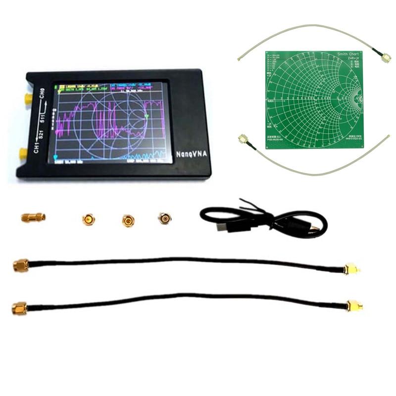 2020 Mais Recente 4 polegada Display LCD 10KHz ~ 1.5MHz NanoVNA-H Vector Network Analyzer Analisador de Antena HF VHF UHF RF Kit de Demonstração