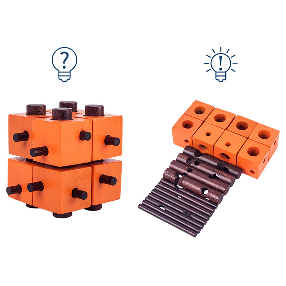 Permalink to Puzzle Game Montessori Educational Magic Box Of 8 parts For Adult And Children Wooden Toys Of Kong Ming Lock