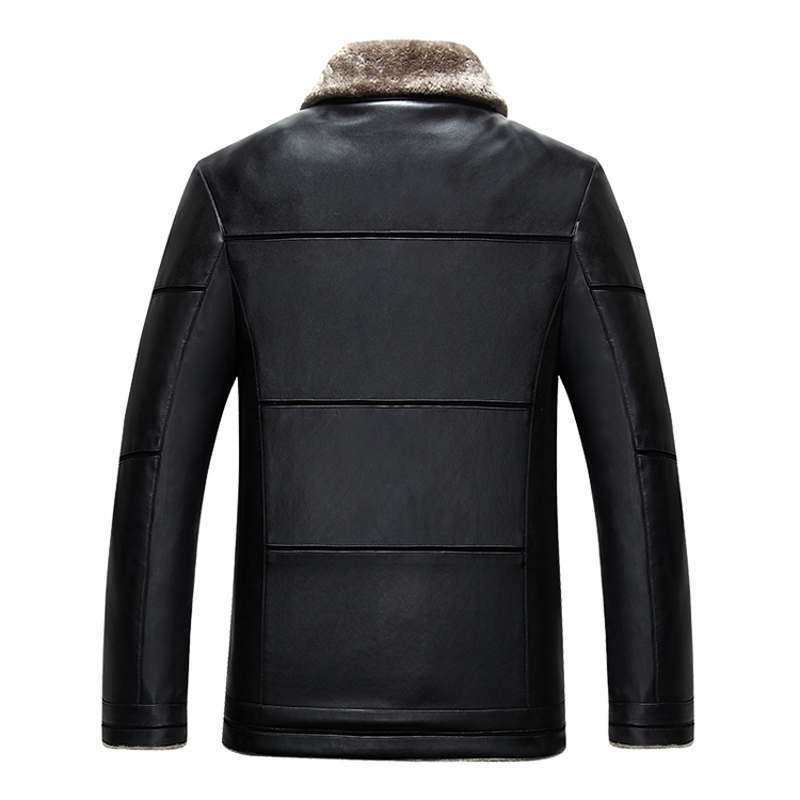 Новое поступление 2020, зимние мягкие Куртки из искусственной кожи, мужская повседневная толстая верхняя одежда, мужская Роскошная флисовая