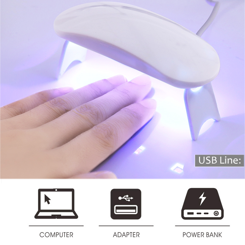 9W UV Lamp for Nails Dryer Micro USB Gel Polish Curing Machine for UV LED Nail Lamp All for