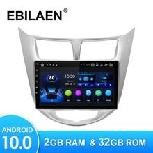 Android 10,0 автомобильный мультимедийный плеер для Hyundai Solaris Accent Verna 2010-2016 Авторадио GPS навигационная камера WIFI IPS экран