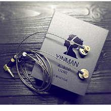 Yinman 150 ohm de alta fidelidade alta impedância no ouvido fone 150ohm earbud cabeça plana plug tampões alta fidelidade fone de ouvido limite