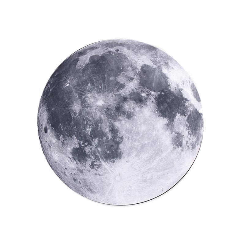 Резиновый коврик для мыши серии планеты, круговой коврик для мыши с стилем Earth/Venus/Mars/Mercury/Jupiter/Pluto/Rainbow Moon/Black Moon