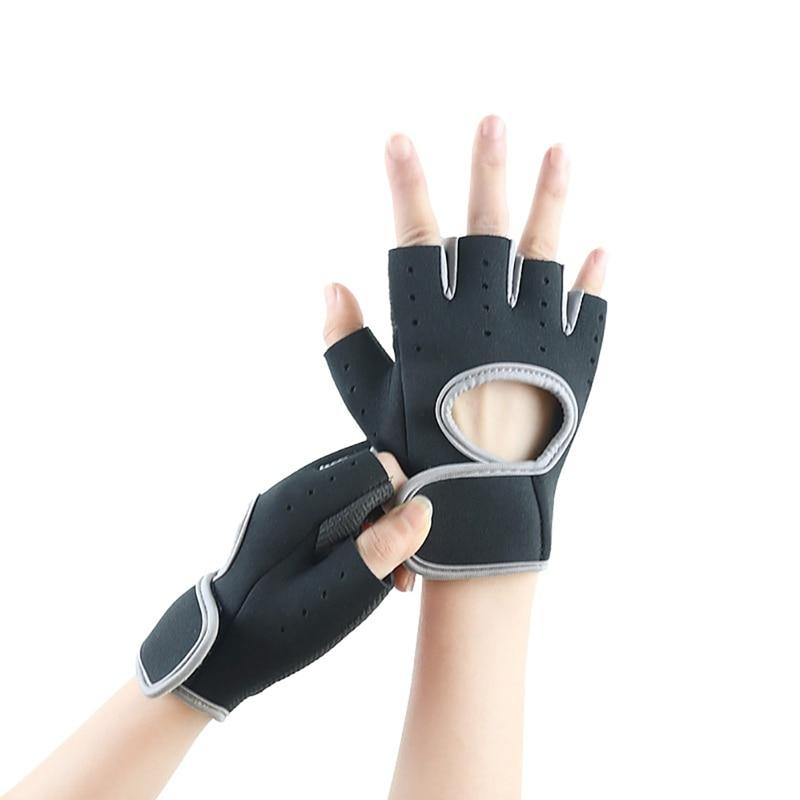 2pcs  Men Women Fitness Gloves Anti-slip Sports Training Half-Finger Horizontal Bar Cycling Weightlifting Body Building Gloves