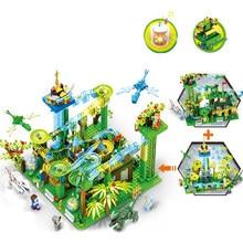 Jogo de corrida bola guia blocos de construção criador trilha elétrica tijolos brinquedos kit crianças 6-12 presente de aniversário