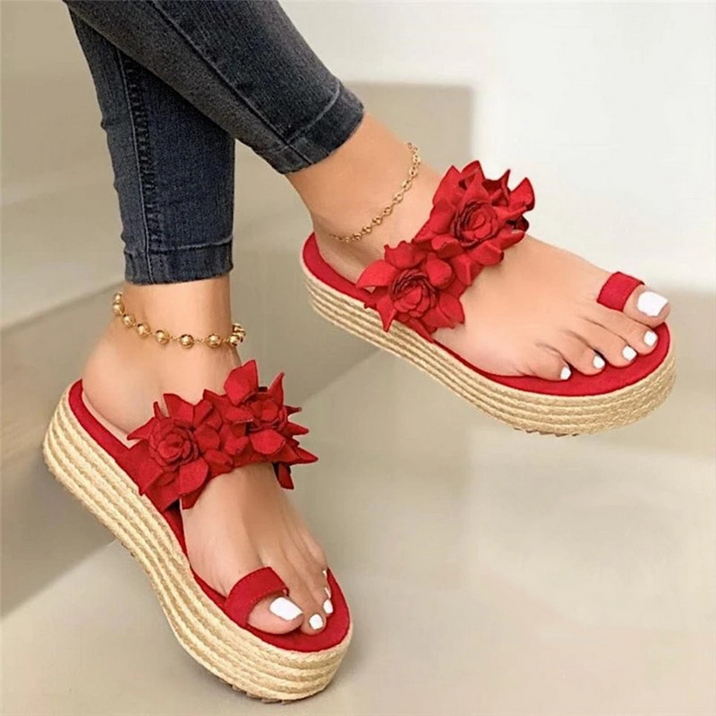 2020 Hot Sales Woman Sandals Platform Flower Slippers Casual Beach Flip Flops Sandals Women Summer Sexy High Heel Sandal Ladies