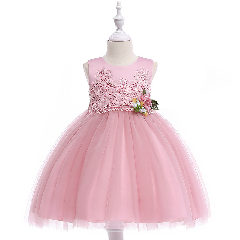 2018 New Style AliExpress CHILDREN'S Dress CHILDREN'S DAY Costume Europe And America Pastoral Style Wedding Dress Princess One P