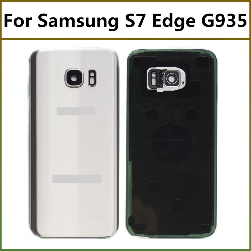 Battery Back Cover For Samsung S7 edge Door Housing with Camera Glass Lens Replacement For Samsung Galaxy S7 Edge G935 image