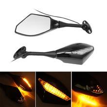 Motorcycle LED Turn Signals Rearview Sport Bike Side Mirrors For Honda CBR1000RR CBR300R CBR500R CBR250R CBR600 CBR900