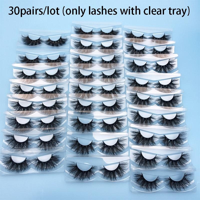 30 Pairs Wholesale Mink Lashes MIKIWI Eyelashes No Box  24 Styles Cruelty Free Mink Lash 3D Mink Lashes Handmade Dramatic Lashes