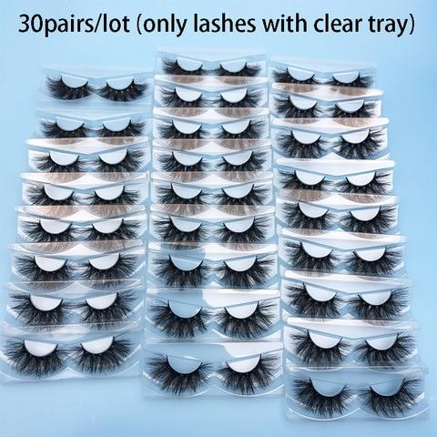 30 pares atacado vison cilios mikiwi cilios sem caixa 24 estilos crueldade livre vison lash