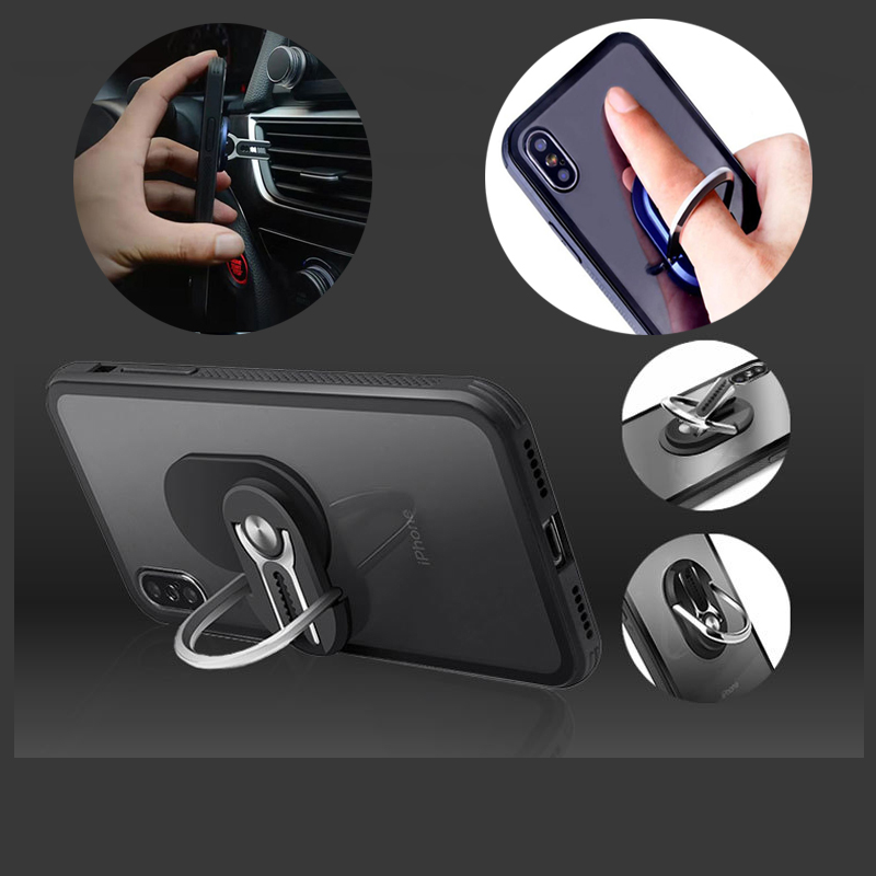 2 In 1 Air Vent Car Phone Holder Finger Ring Phone Holder 360 Rotation Grip Kickstand For Iphone  Huawei Xiaomi Sumsung Galaxy