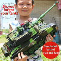 33/44CM RC Krieg Tank Radio Taktische Fahrzeug Wichtigsten Schlacht Military Kampfpanzer Modell Sound Recoil Elektronische hobby Junge Spielzeug