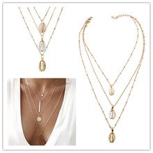 цена Europe and the United States new necklace creative retro simple star disc vertical pendant multilayer four-layer necklace women в интернет-магазинах