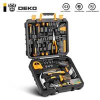 DEKO-conjunto de herramientas de reparación de automóviles, llave de trinquete automática, destornillador, Kit de herramientas para mecánicos con caja de moldeado por soplado, 113 Uds.