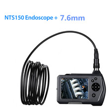 Endoscope Camera Flexible Pipe Camera DVR Borescope HD 7.6mm Hard Cable Endoscope 3.5