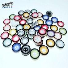 HANLV 13mm 30PCS Mix Colors Random 4 Holes Resin Buttons Apparel Sewing Accessories DIY  Scrapbookings Crafts