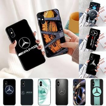 Alemán Mercedes de lujo AMG Benz coche deportivo genial marca cubierta del teléfono para iPhone 11 12 pro XS MAX 8 7 6 6S Plus X 5S SE 2020 XR