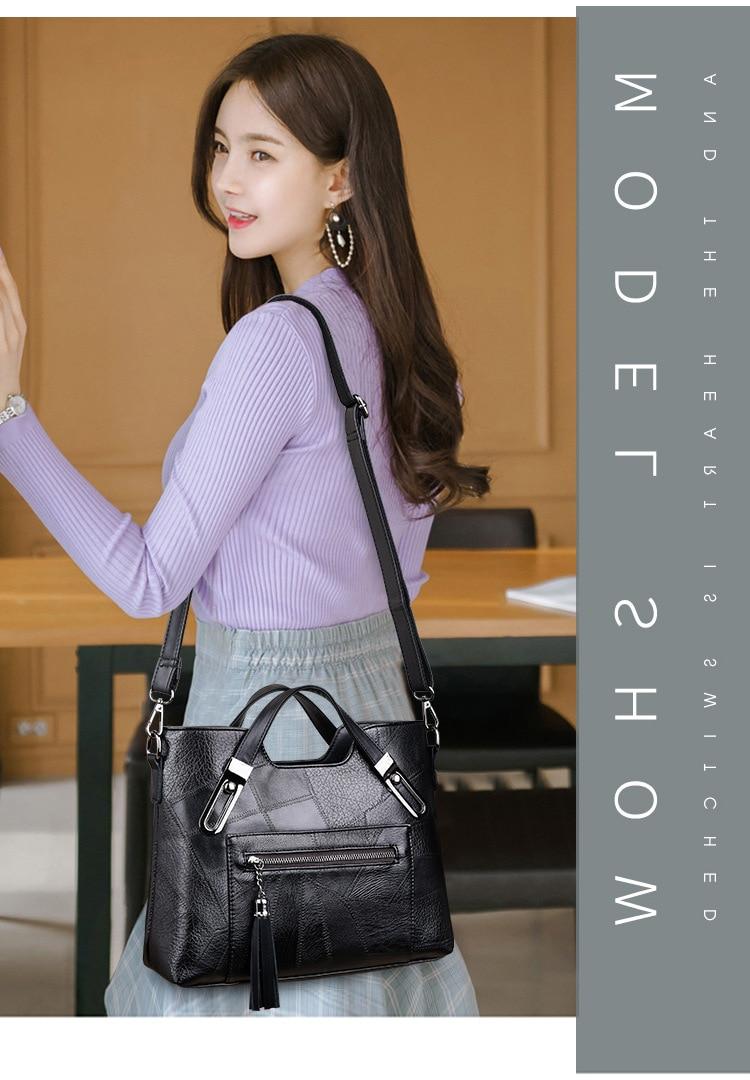2019 new retro fashion large capacity single shoulder slant handbag for women with temperament handbag