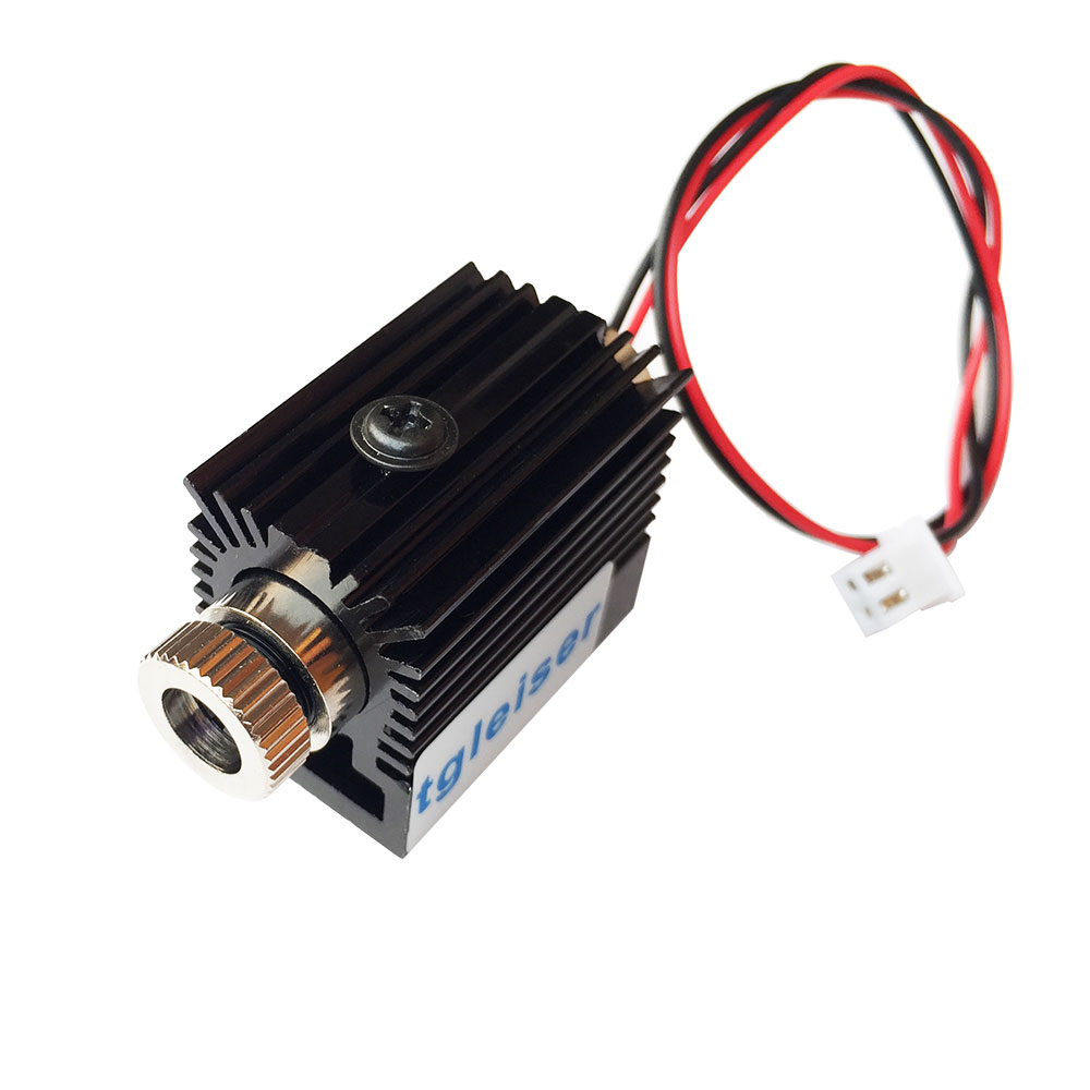 Adjusted 3v-5V 445nm-450nm 150mw Focusable Blue Ray Laser Dot Module with Driver in and Glass Lens