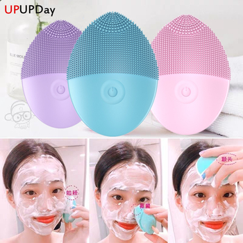 Silicone Electric Facial Cleansing Brush Vibration Face Cleaner Deep Cleaning Pores Skin Care Tools Massager Rejuvenation