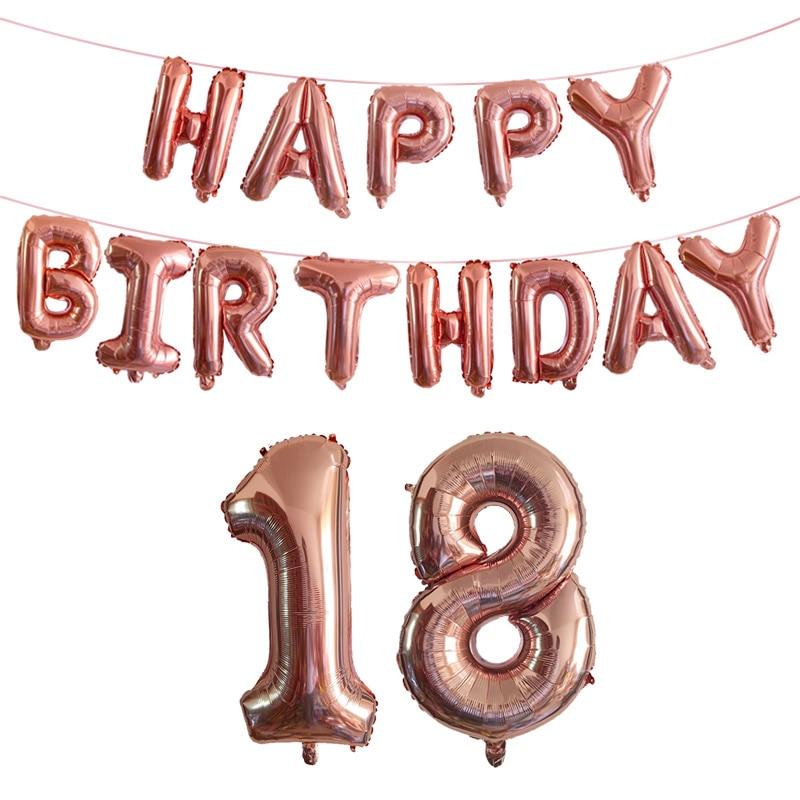 18 21 30 40 50 60 70 80 anniversaire déco ensemble feuille ballons ans anniversaire 18th 30th 40th anniversaire fête décorations adulte Ballon