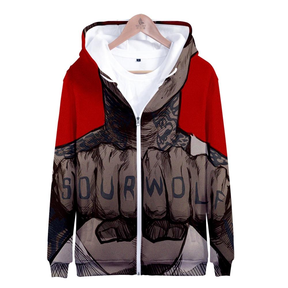 TEEN WOLF3D Printing New Joker Sweatshirts Men Brand Hoodies Zipper Hoodie hip hop Male Casual funny Tracksuits clothes harajuku