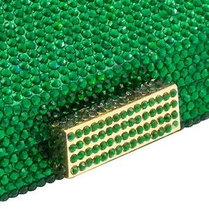 Image 4 - בוטיק דה FGG נוצץ ירוק אמרלד Wome גביש ערב שקית חתונה כלה יהלומי מצמד מסיבת Minaudiere תיק ארנק