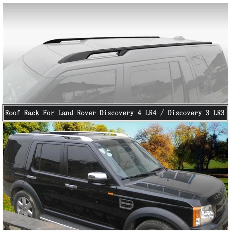 roof rack for land rover discovery 3 4 lr3 lr4 2003 2017 aluminum alloy rails bar luggage carrier bars top bar racks rail boxes
