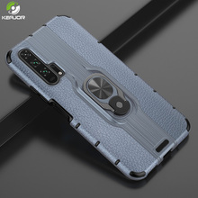 Keajor Case For Huawei Honor 20 Pro Metal Ring Holder Cover TPU+PC Shockproof Armor Bumper 20Pro Coque Fundas