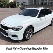 Highest quality Pearl White vinyl wrap Pearlescent Vinyl Wrap white chameleon Vinyl Wrap Car wrap quality Warranty 5m/10m/18m