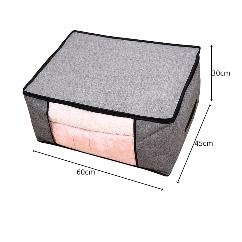 Складной тканевый ящик для хранения грязной одежды, чехол на молнии для игрушек, стеганая коробка для хранения, прозрачный влагостойкий Органайзер - Цвет: G226583B