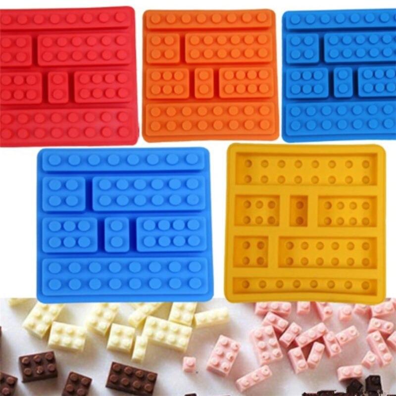 Забавная силиконовая форма для торта разной формы 1 шт., робот, блок для конфет и шоколада, поднос для кубиков льда, строительные блоки, форма ...