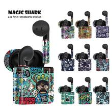 Magic Shark Fashion Graffiti Skull Waterproof PVC Vape Kit Case Cover Sticker for Huawei Freebuds 2 2 Pro No Fade new smok slm stick thick vapor pod vape kit 250mah electronic cigarette kit small vape pen kit vs smok nord drag nano minifit