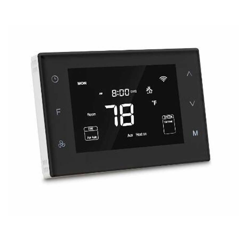 Haozee Z Wave Plus Heat Pump Programmable Thermostat Applied To Control Heat Pump System