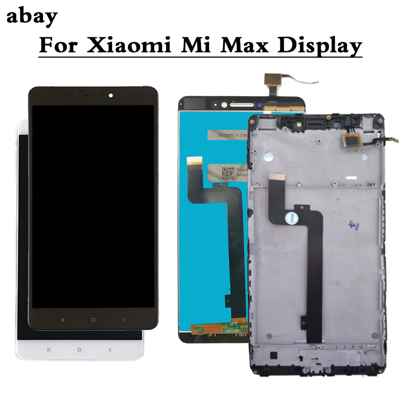 LCD For Xiaomi Mi Max Display Screen Touch Panel Sensor Digitizer Assembly Frame Replacement Parts Mimax Only Touch 6.44