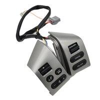 Yeni Nissan LIVINA ve Nissan TIIDA ve SYLPHY için direksiyon kontrol düğmeleri arkadan aydınlatmalı araba aksesuarları düğmeleri