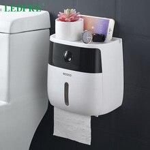 LEDFRE, soporte de papel higiénico de plástico, caja de papel doble para baño, caja de papel montada en la pared, Caja de almacenaje para estante dispensador de aseo
