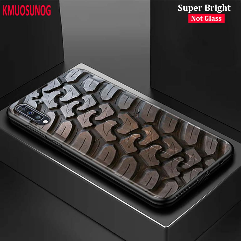 Black Silicone Cover Cool Tire Tread Wheel For Samsung Galaxy A70 A90 A80 A60 A50 A40 A30S A20E A20S A10 Phone Case