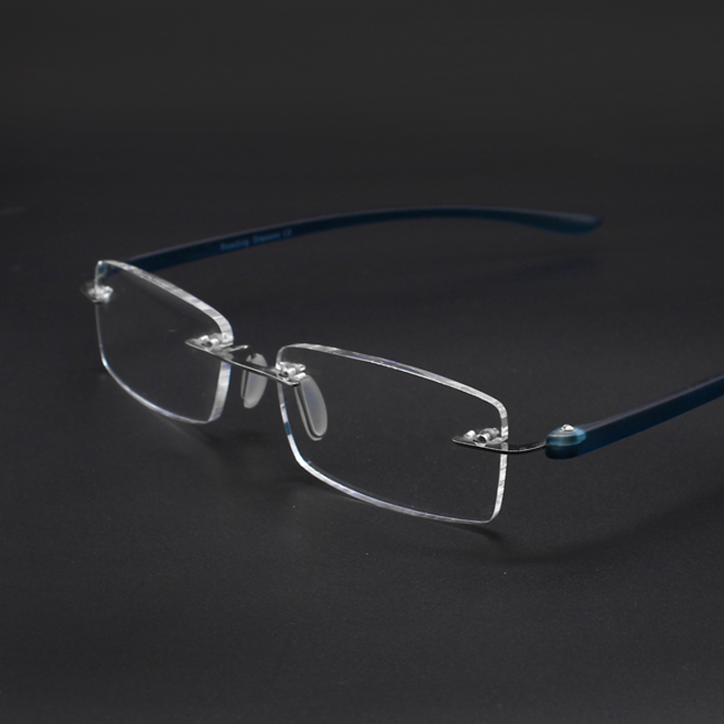 ultralight office readers reading <font><b>glasses</b></font> men women rimless resin sheet with diopters +<font><b>1.0</b></font> +1.5 +2.0 +2.5 +3.0 +3.5 image