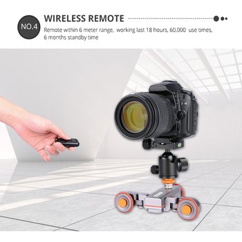 Motorized Video Camera Sliding Electric Track Scale Indicator for DSLR Camera Smartphone DQ-Drop