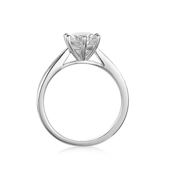 BOEYCJR 925 Silver  1ct F color Moissanite VVS1 Elegant  6 Claws Engagement Wedding Ring With national certificate for Women 2