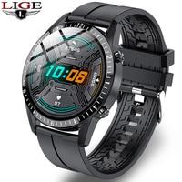 LIGE-reloj inteligente para hombre y mujer, accesorio de pulsera resistente al agua con llamadas, Bluetooth, seguimiento de la salud, compatible con Android e Ios