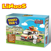 hotdog car surprise building brick block toys educational LE rocket in space compatible plastic LiNooS peanut hot sales