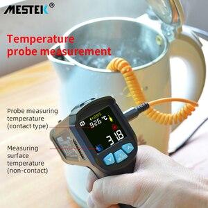 Image 2 - MESTEK termometro infrarojo цифровой лазерный температурный пистолет termometro цветной ЖК дисплей с сигнализацией температура окружающей среды измеритель влажности термометр термометр инфракрасный тепловизор инкубатор