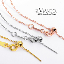 eManco adjustable gold stainless steel chain bracelets for women wholesale 316L stainless