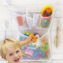 Organizer do zabawek kąpielowych torby do przechowywania dla dzieci netto Mesh uchwyt łazienkowy wanna dla dzieci wanna łazienka przechowywanie narzędzia przechowywanie narzędzi # p30 tanie tanio ISHOWTIENDA CN (pochodzenie) 3 drutu Szafa Ekologiczne Włókniny tkaniny Trójwymiarowy typu Prostokątne Odzież 80*60*40 cm