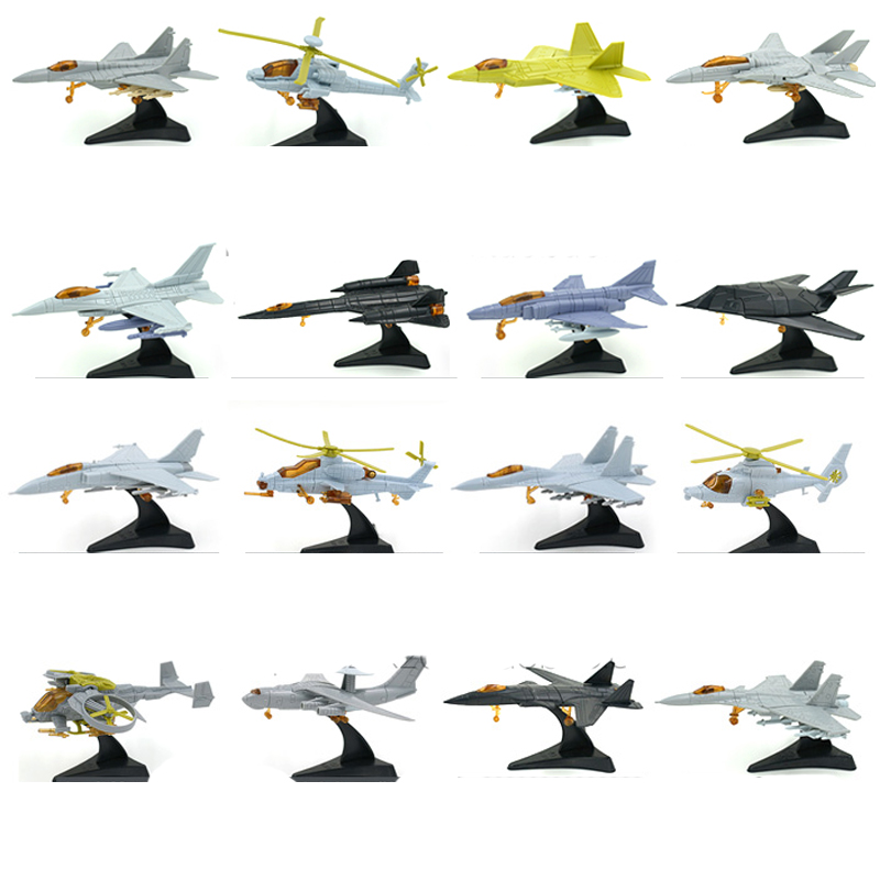 1pcs 1:165 4D Plastic Assembled Airplane 12cm Military Fighter Militaire Helicopter Collection For Children Sandplay Toy